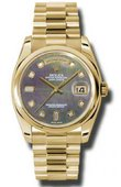 Rolex Day-Date 118208 dkmdp Yellow Gold