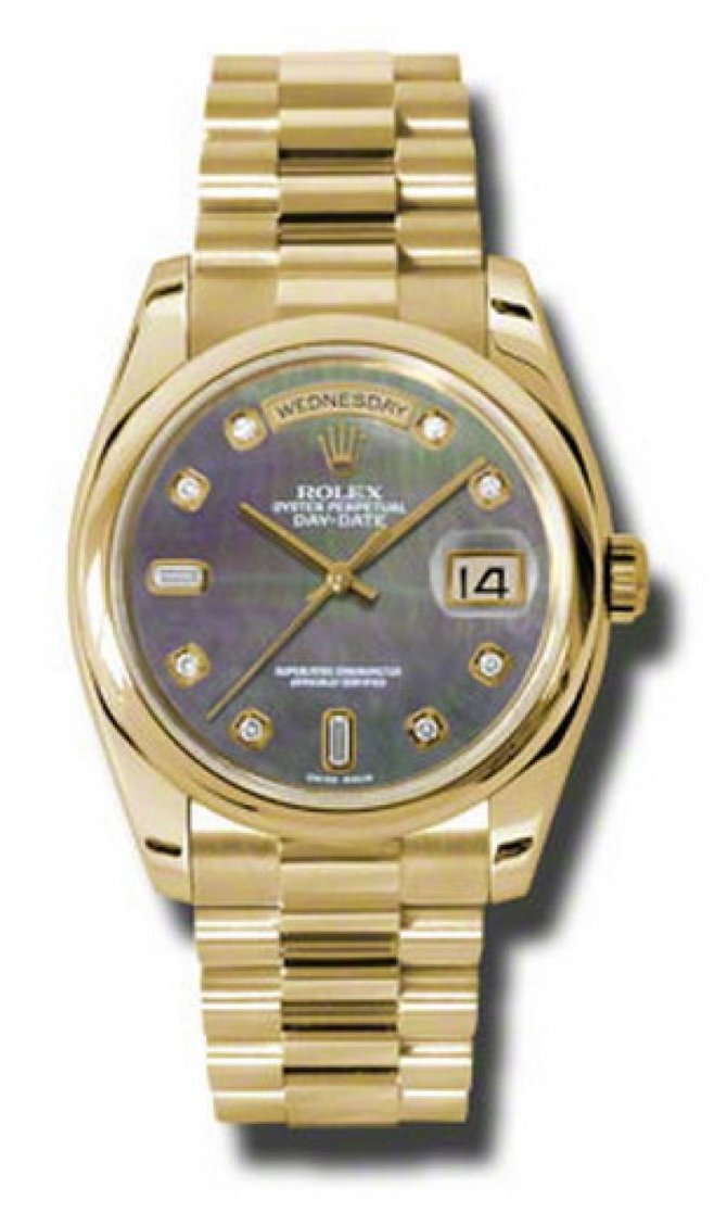 Rolex 118208 dkmdp Day-Date Yellow Gold - фото 1
