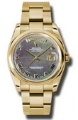 Rolex Day-Date 118208 dkmro Yellow Gold