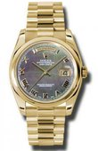 Rolex Day-Date 118208 dkmrp Yellow Gold