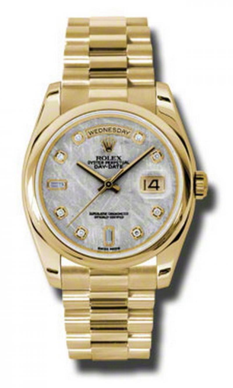 118208 mtdp Rolex Yellow Gold Day-Date