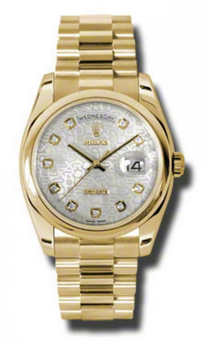 Rolex 118208 sjdp Day-Date Yellow Gold - фото 1