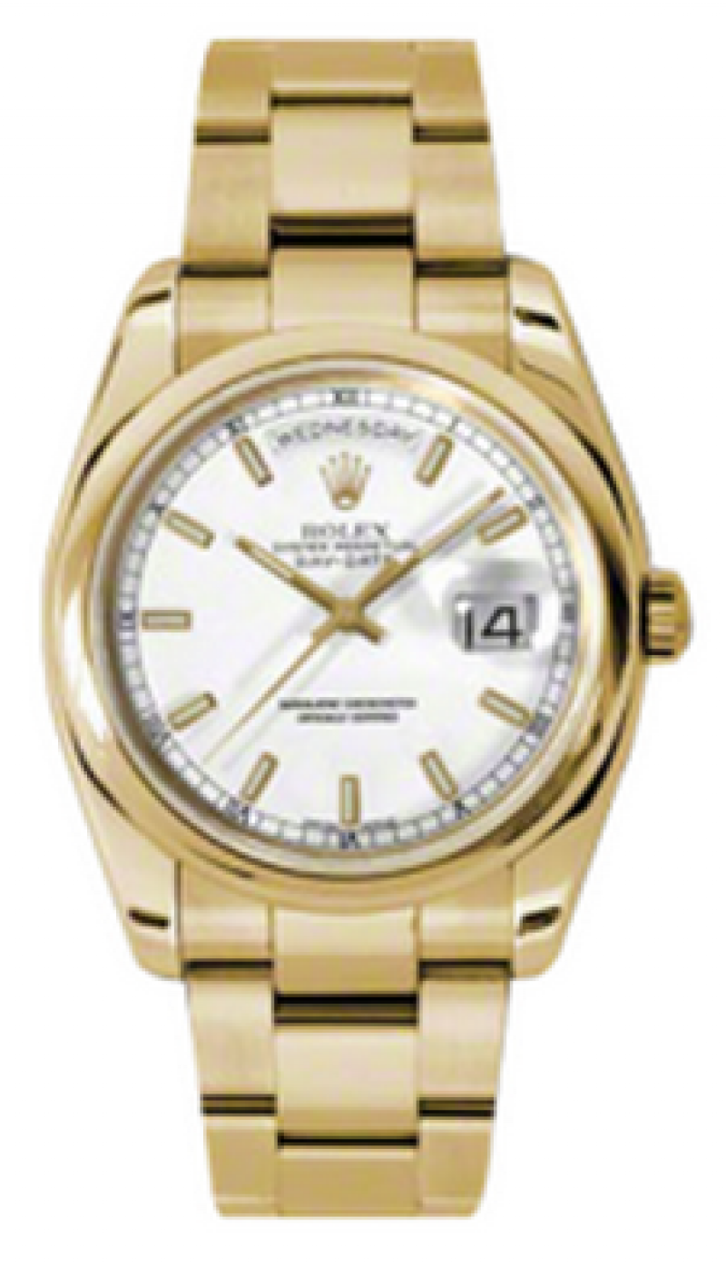 118208 white Rolex Yellow Gold Day-Date
