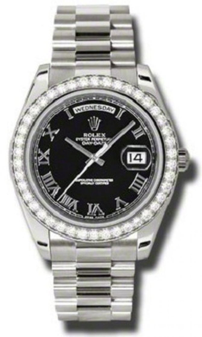 Rolex 218349 bkrp Day-Date White Gold