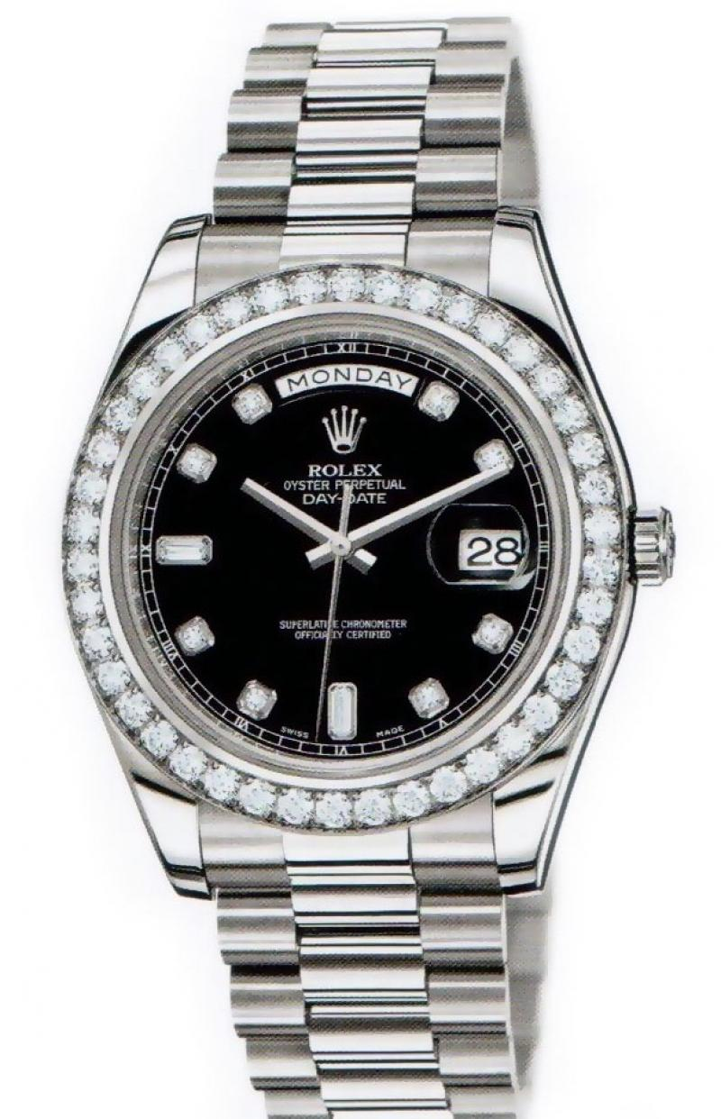218349 bkdp Rolex White Gold Day-Date