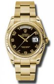 Rolex Day-Date 118238 bkao Yellow Gold