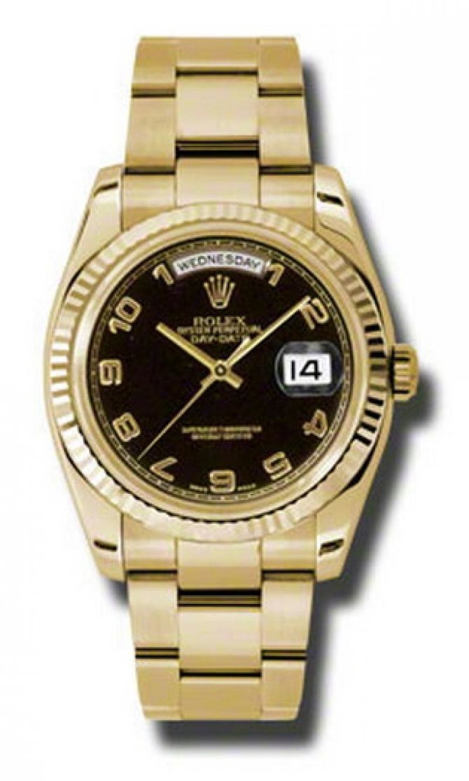 Rolex 118238 bkao Day-Date Yellow Gold - фото 1