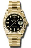 Rolex Day-Date 118238 bkdp Yellow Gold