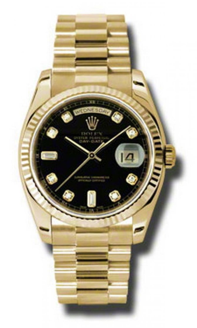 Rolex 118238 bkdp Day-Date Yellow Gold - фото 1