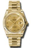 Rolex Day-Date 118238 chap Yellow Gold