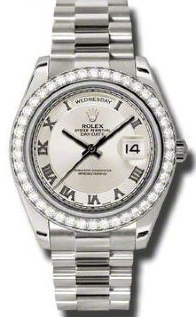Rolex 218349 icrp Day-Date White Gold