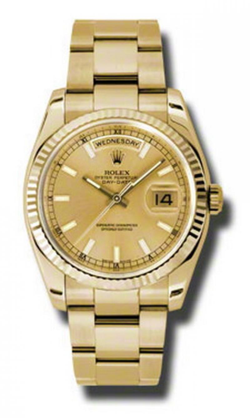 118238 chso Rolex Yellow Gold Day-Date