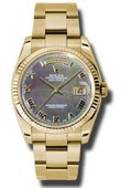 Rolex Day-Date 118238 dkmro Yellow Gold