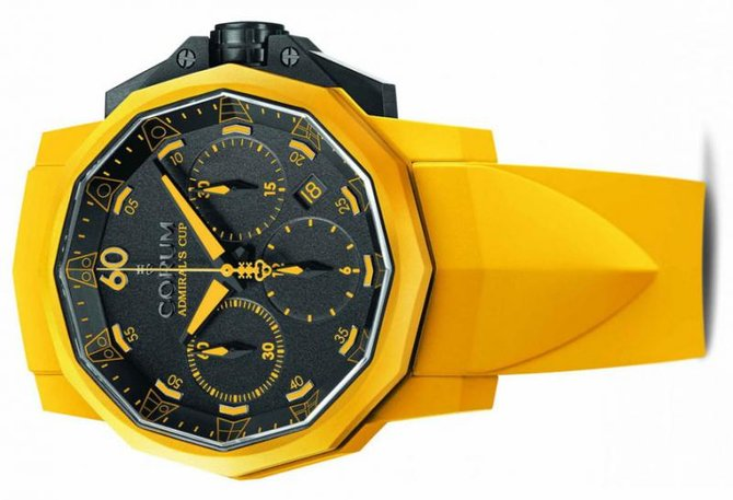 Corum Challenger 44 Chrono Rubber Yellow Admirals Cup Challenger Chrono Rubber 44 - фото 3