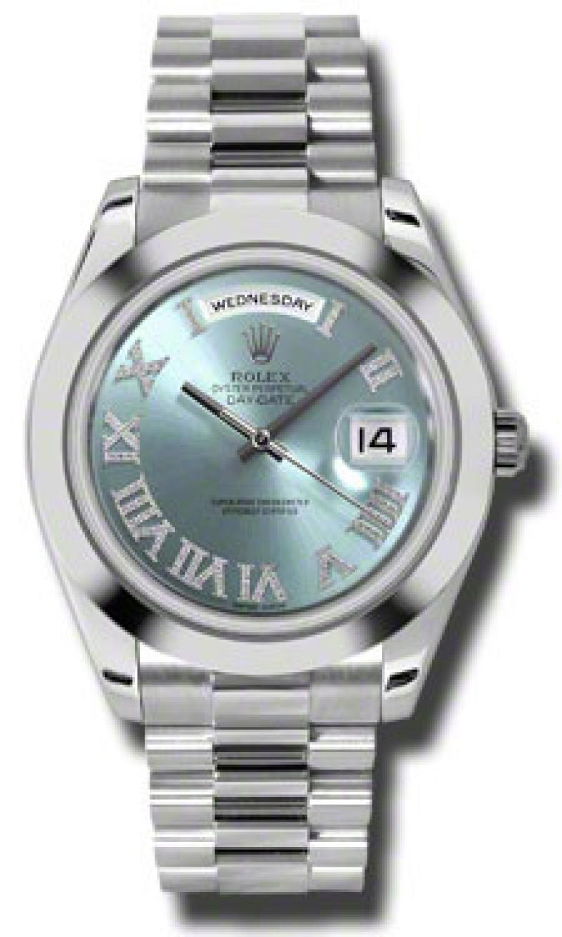 218206 iceblue diamonds Rolex Platinum Day-Date