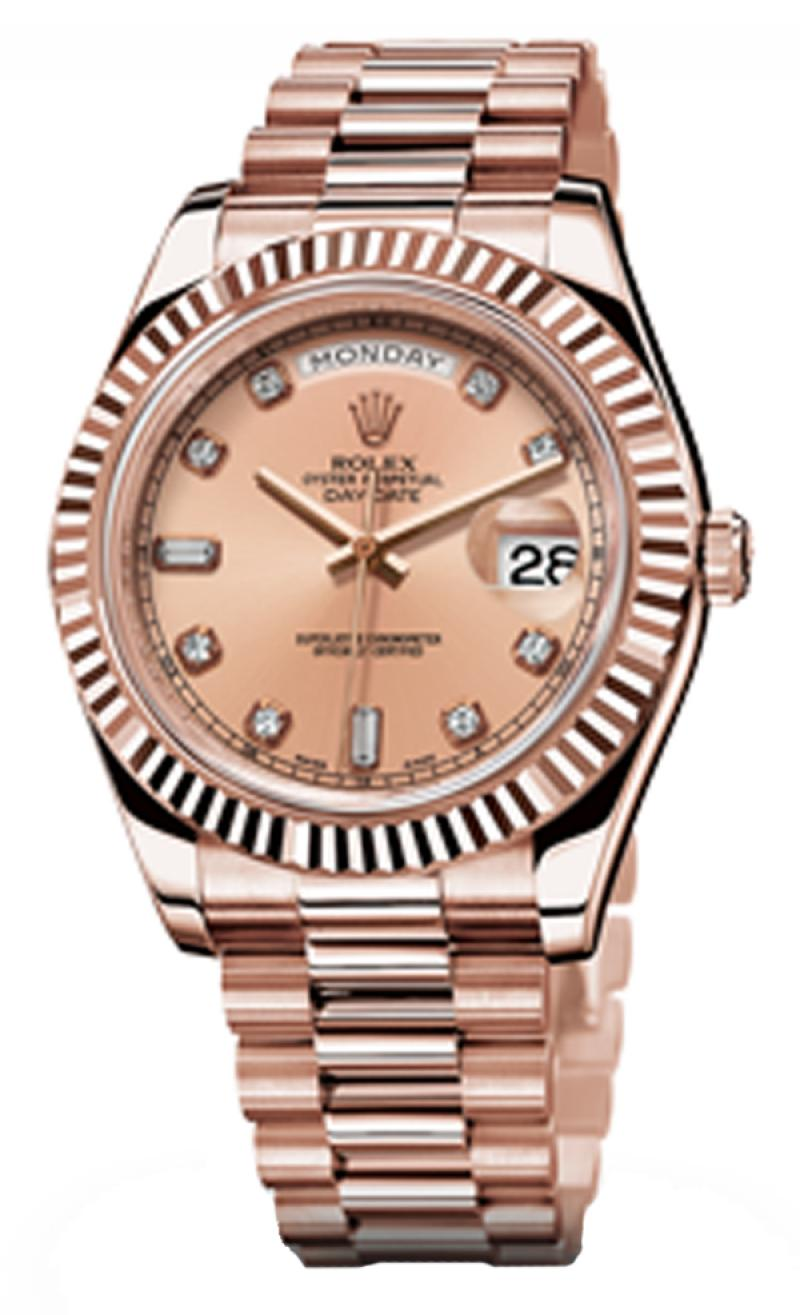 218235 pink diamonds Rolex Everose Gold Day-Date