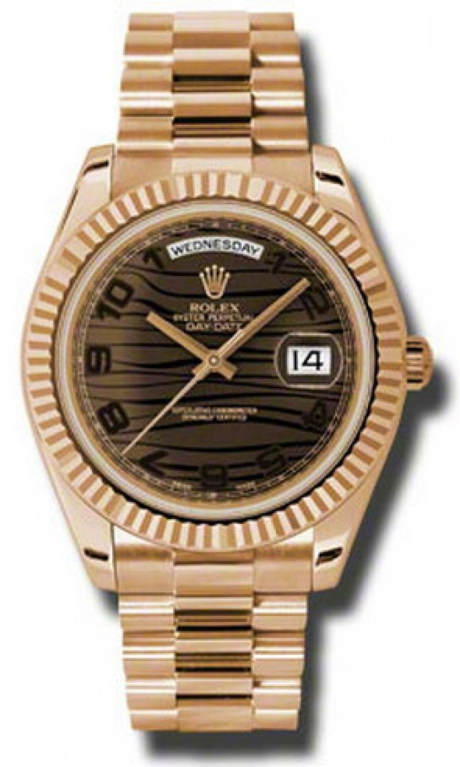 Rolex 218235 brwap Day-Date Everose Gold - фото 1