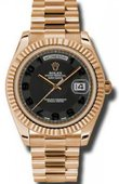 Rolex Day-Date 218235 black Everose Gold