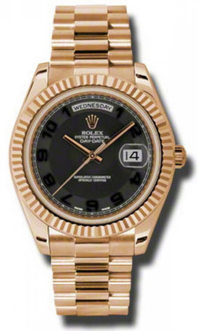 Rolex 218235 black Day-Date Everose Gold - фото 1