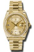Rolex Day-Date 118348 chd Yellow Gold