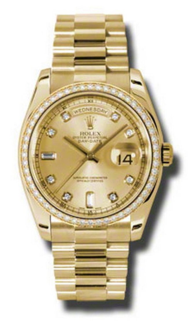 Rolex 118348 chd Day-Date Yellow Gold - фото 1