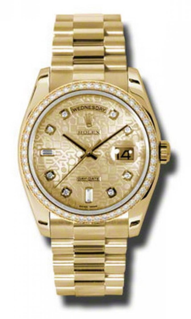 Rolex 118348 chjdp Day-Date Yellow Gold - фото 1