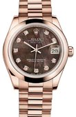 Rolex Datejust Ladies 178245 black mop Everose Gold