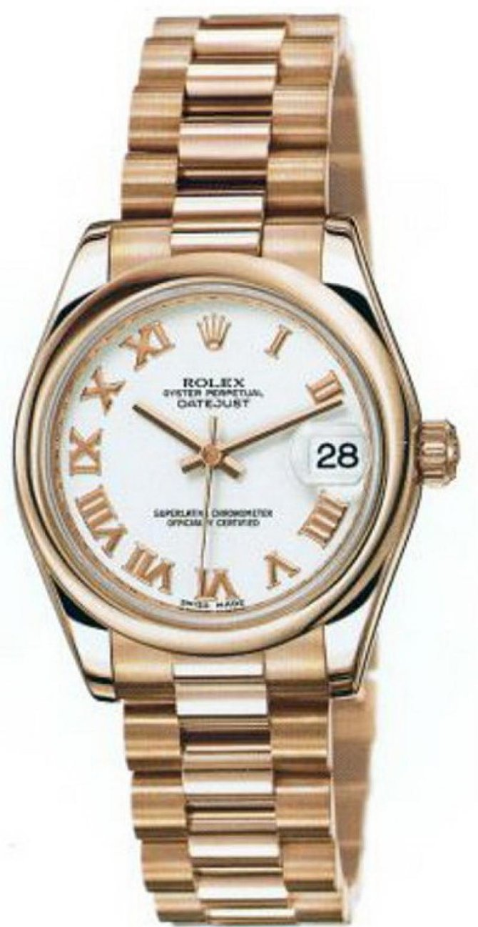 Rolex 178245 white Datejust Ladies Everose Gold - фото 1