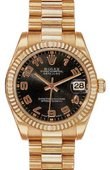 Rolex Datejust Ladies 178275 black Everose Gold