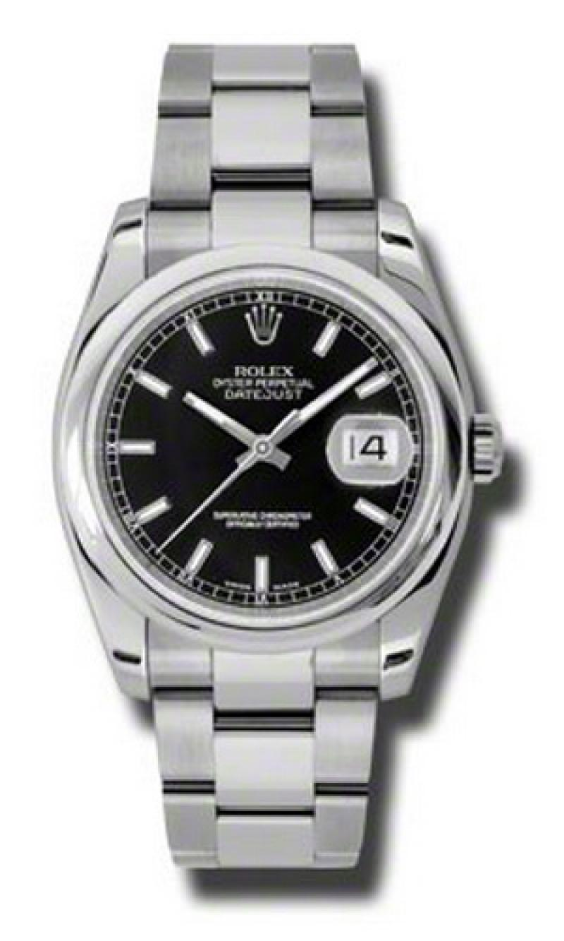 116200 bkso Rolex Steel Datejust