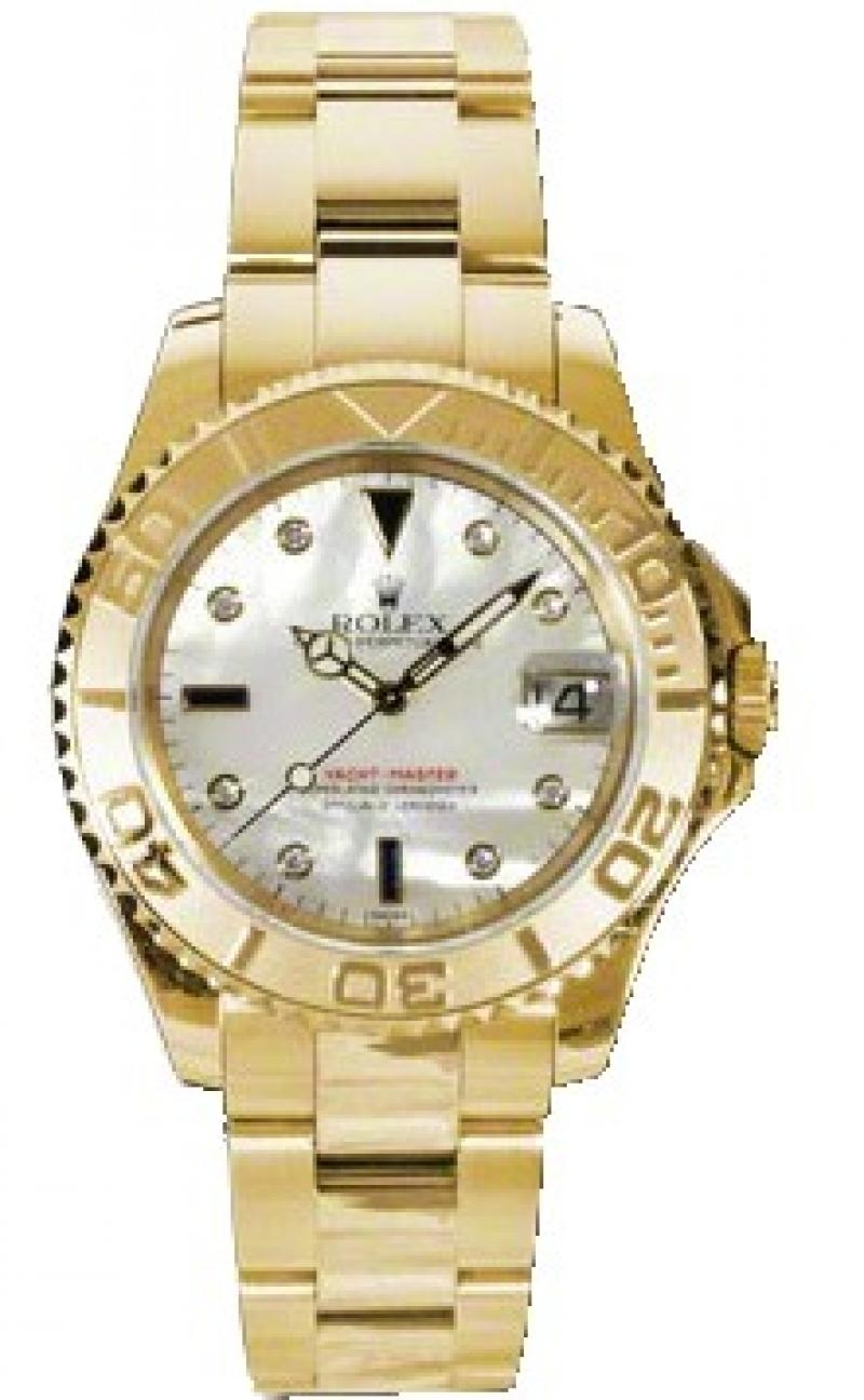 168628 md Rolex 35mm Yellow Gold Yacht Master II