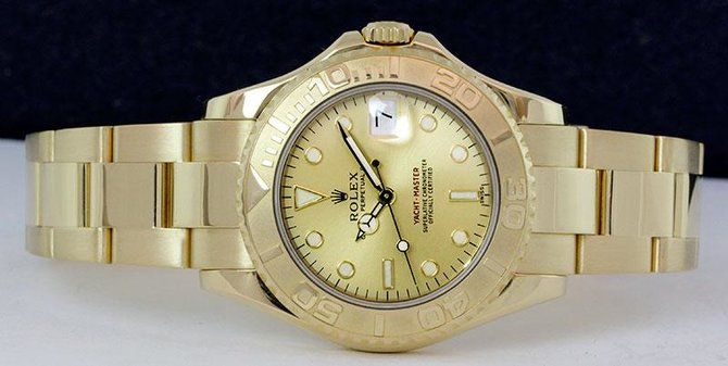Rolex 168628 Champaigne Yacht Master II  35mm Yellow Gold - фото 4