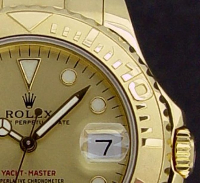 Rolex 168628 Champaigne Yacht Master II  35mm Yellow Gold - фото 3