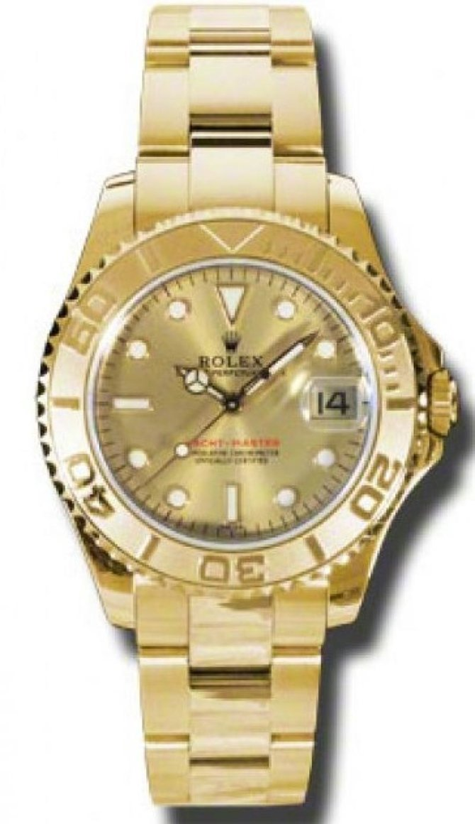 Rolex 168628 Champaigne Yacht Master II  35mm Yellow Gold - фото 1