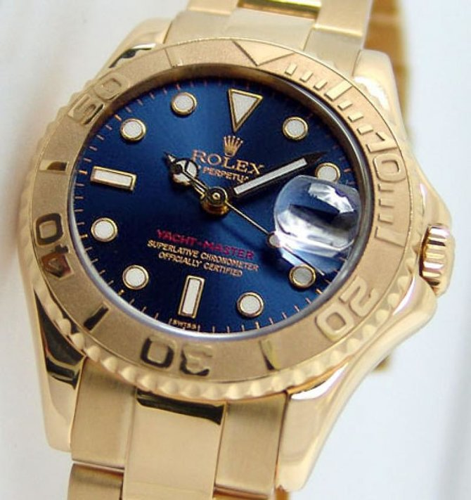 Rolex 168628 Blue Yacht Master II Yacht-Master 35mm Yellow Gold - фото 3