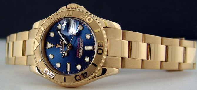 Rolex 168628 Blue Yacht Master II Yacht-Master 35mm Yellow Gold - фото 5