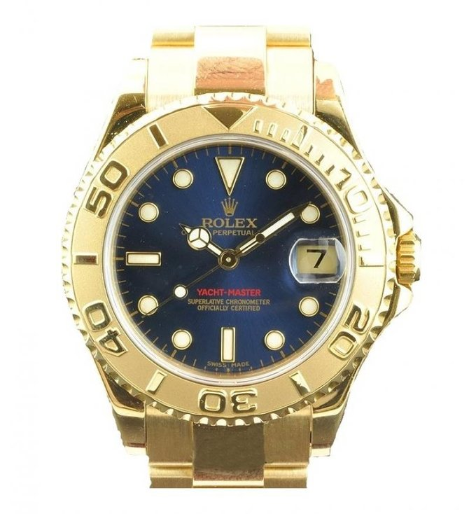 Rolex 168628 Blue Yacht Master II Yacht-Master 35mm Yellow Gold - фото 1