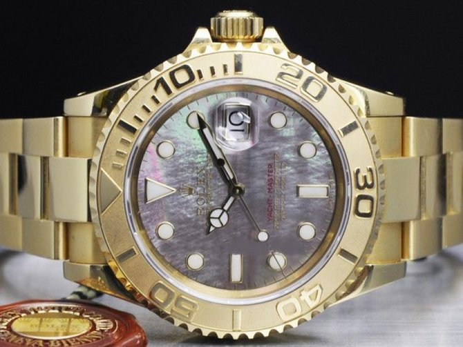 Rolex 168628 black Yacht Master II Yacht-Master 35mm Yellow Gold - фото 4