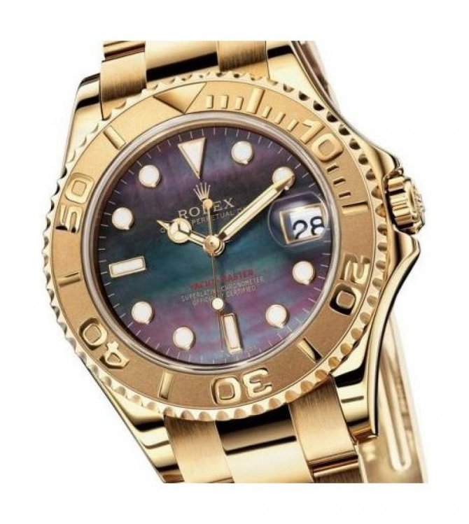 Rolex 168628 black Yacht Master II Yacht-Master 35mm Yellow Gold - фото 2