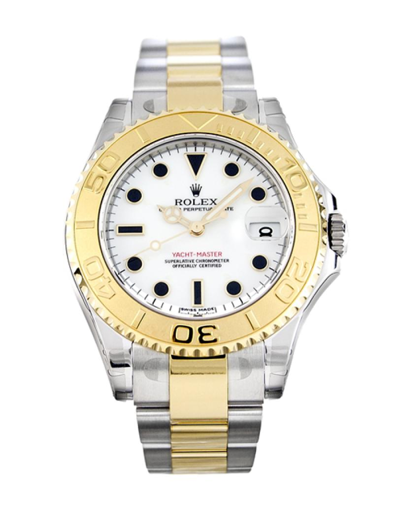 168623 white dial Rolex Yacht-Master 35mm Steel and Yellow Gold Yacht Master II