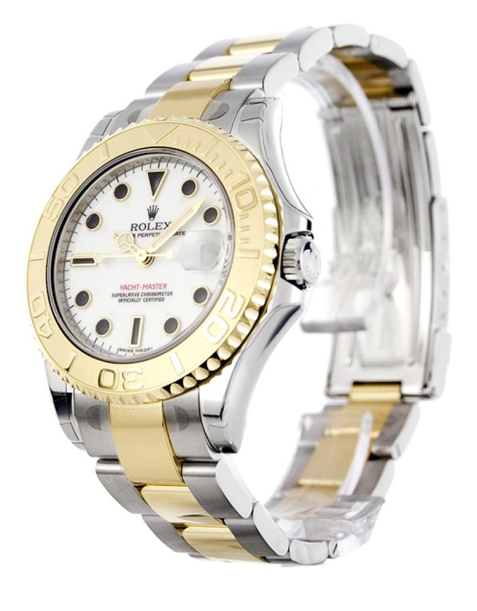 Rolex 168623 white dial Yacht Master II Yacht-Master 35mm Steel and Yellow Gold - фото 2