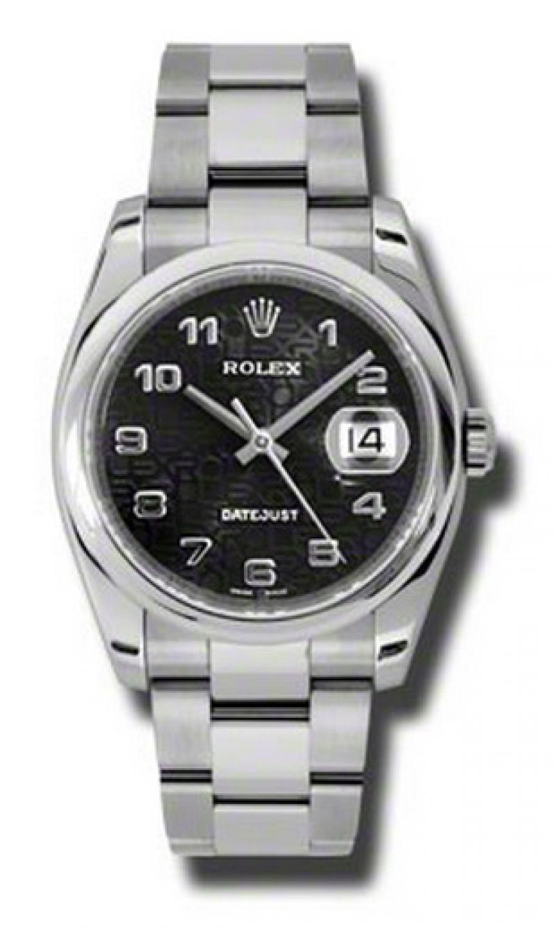 116200 bkjao Rolex Steel Datejust