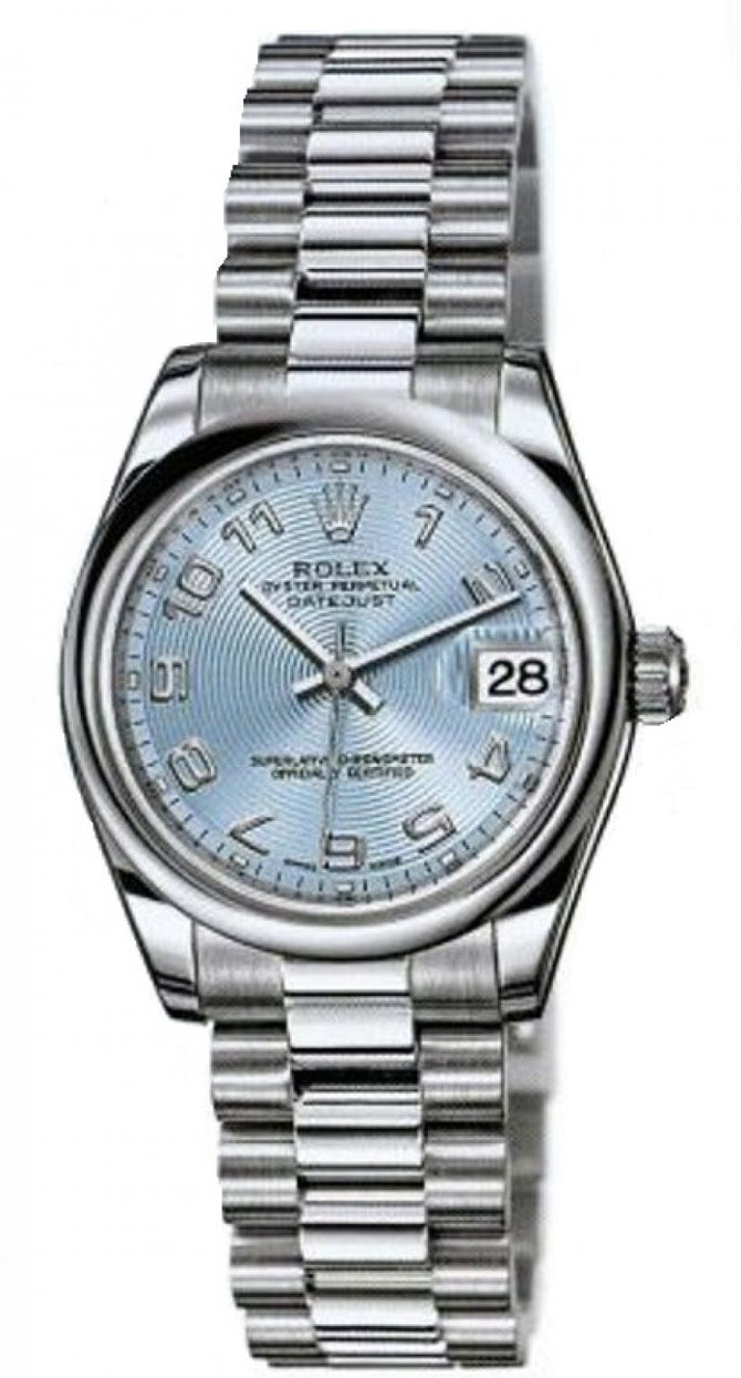 Rolex 178246 ice blue Datejust Ladies Platinum
