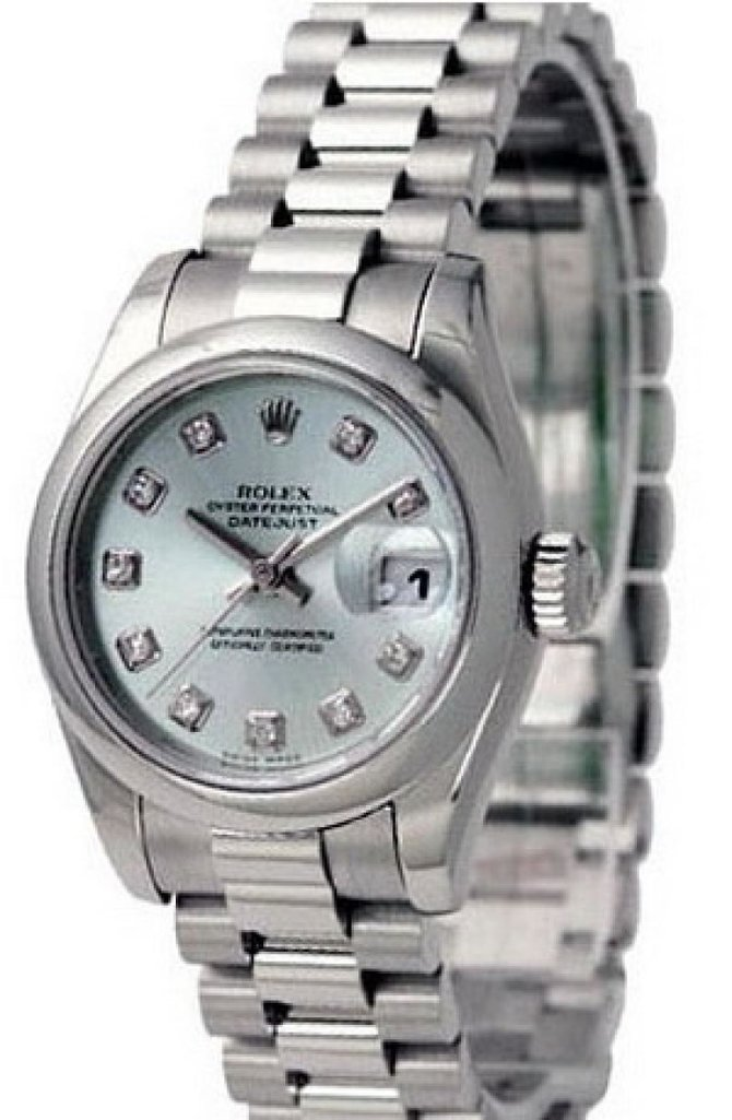 178246 ice blue diamonds Rolex Platinum Datejust Ladies