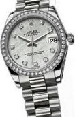 Rolex Datejust Ladies 178286 meteorite Platinum