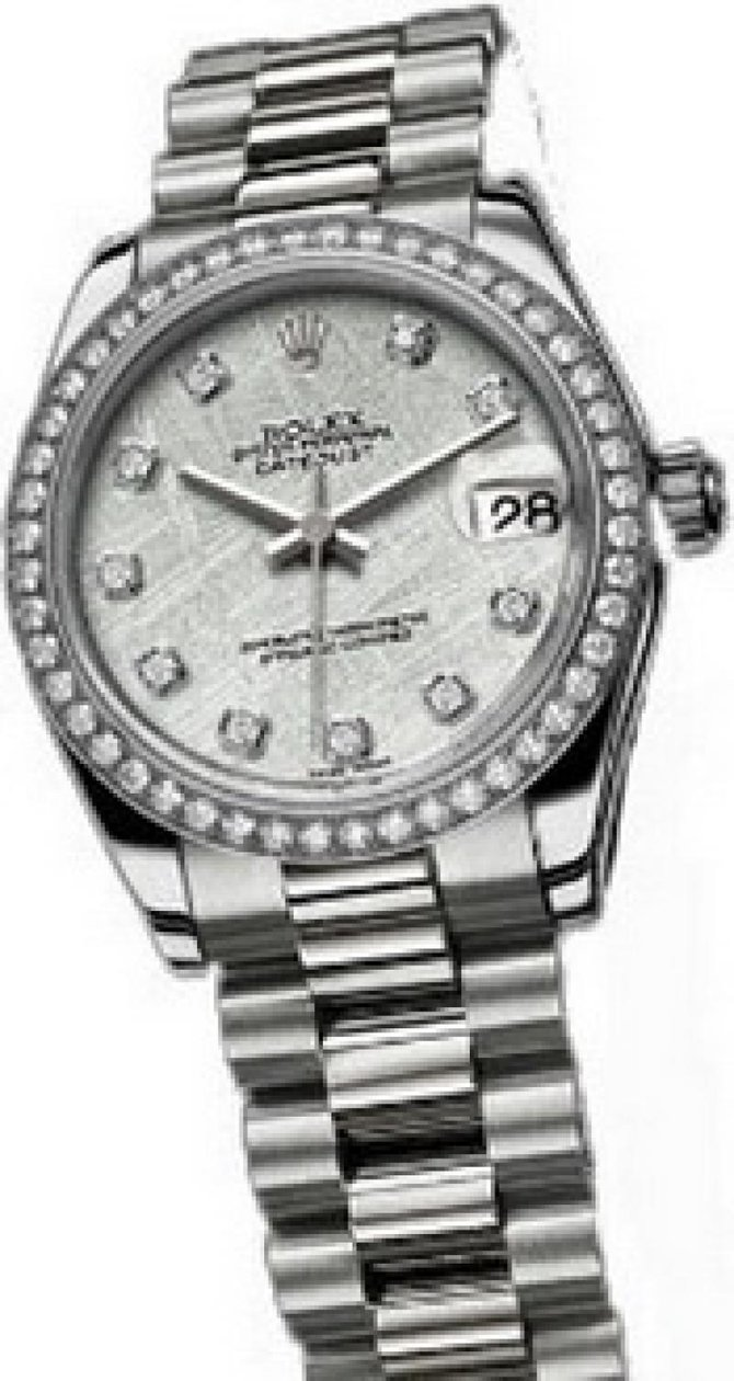 178286 meteorite Rolex Platinum Datejust Ladies