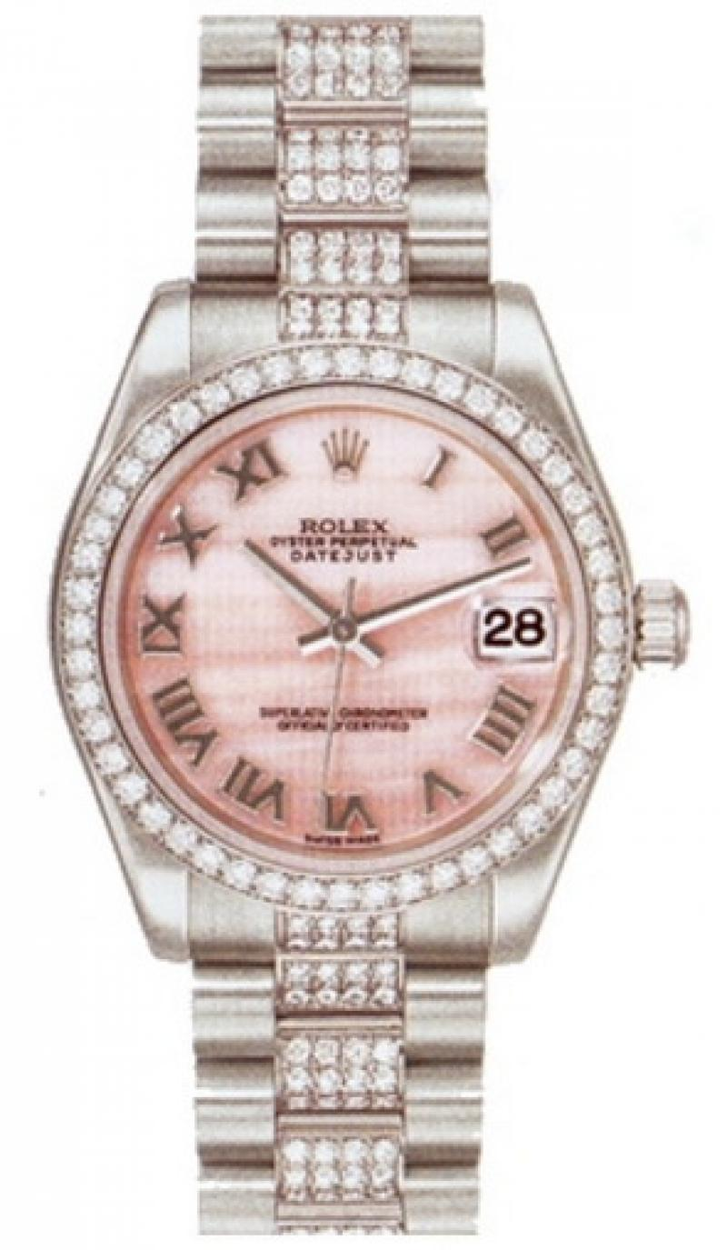 178286 pinkmop Rolex Platinum Datejust Ladies