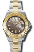 Rolex Yacht Master II 168623 dark Yacht-Master 35mm Steel and Yellow Gold