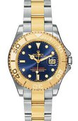 Rolex Yacht Master II 168623 Blue Yacht-Master 35mm Steel and Yellow Gold