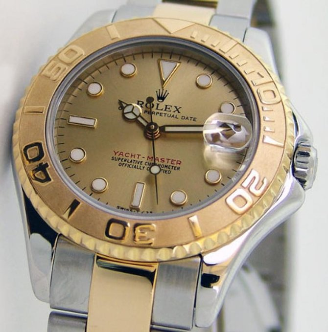 Rolex 168623 Champagne Yacht Master II Yacht-Master 35mm Steel and Yellow Gold - фото 6